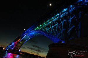 Peace Bridge Night Buffalo NY Prints Photographs
